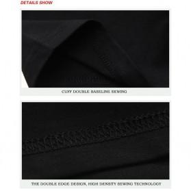 Kaos Katun Pria Nightmare Wolf O Neck Size L / T-Shirt - Black - 5