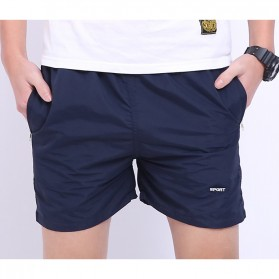 Celana Pantai Santai Pria Anti-UV Size XXL - Navy Blue