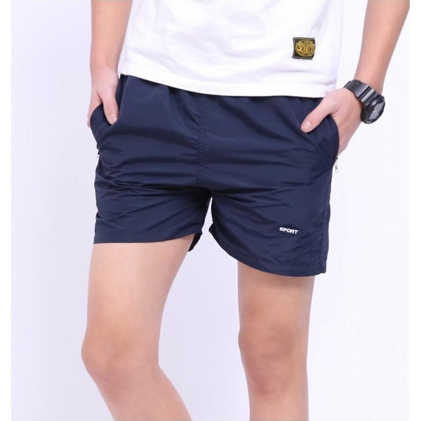 Celana Pantai Santai Pria Anti-UV Size XXL - Navy Blue - JakartaNotebook.com