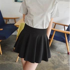 Rok Mini Wanita High Waist Skirt All Size - Black - 2