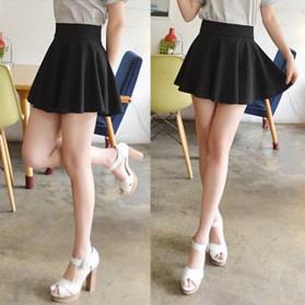 Rok Mini Wanita High Waist Skirt All Size - Black - 5