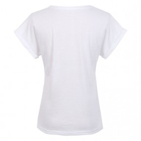 Kaos Katun Wanita Super Logo Short Sleeve O Neck Size L / T-Shirt - White - 4