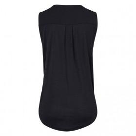 Baju Pantai Wanita Sleeveless V Neck Beach Shirt Size M - Black - 5