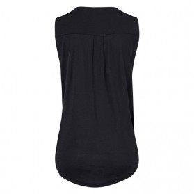 Baju Pantai Wanita Sleeveless V Neck Beach Shirt Size L - Black - 5