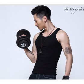 Singlet Pria Undershirt Vest Size XL - Black