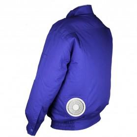 Jaket AC Kipas Pendingin Cooling Fan Air Conditioner Summer Jacket - Size M - Blue