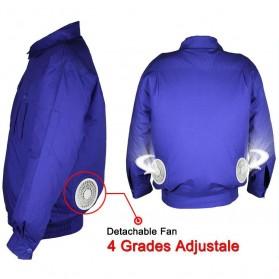 Jaket AC Kipas Pendingin Cooling Fan Air Conditioner Summer Jacket - Size XL - Blue - 3