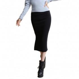 Rok Pensil Wanita Slim Hip Pencil Skirt All Size - Black