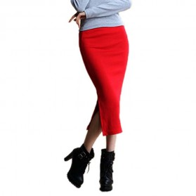 Rok Pensil Wanita Slim Hip Pencil Skirt All Size - Red