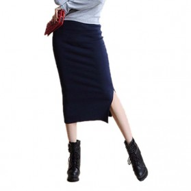 Rok Pensil Wanita Slim Hip Pencil Skirt All Size - Blue