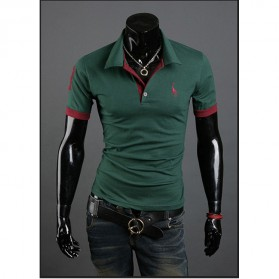 Kaos Polo Shirt Pria Leisure Casual T-Shirt Size M - Green