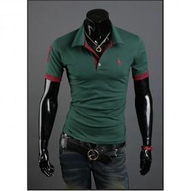 Kaos Polo Shirt Pria Leisure Casual T-Shirt Size L - Green