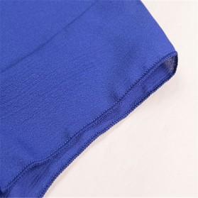 Blouse Wanita Loose Chiffon Size M - Blue - 5