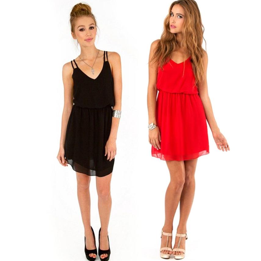 Dress Wanita Casual Summer Style Size L - Black - JakartaNotebook.com