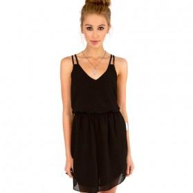 Dress Wanita Casual Summer Style Size S - Black