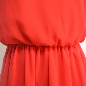 Dress Wanita Casual Summer Style Size S - Red - 5