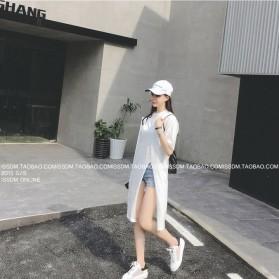 Kaos Katun Wanita Strapless V Neck All Size - White