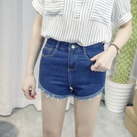 Hot Pants Denim Wanita Size S - Dark Blue