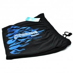 Celana Renang Pria Motif Api Swimming Trunk Pants All Size - T73013 - Blue - 7