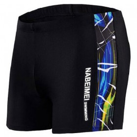 NABEIMEI Celana Renang Pria Swimming Trunk Pants Size L - Black/Blue