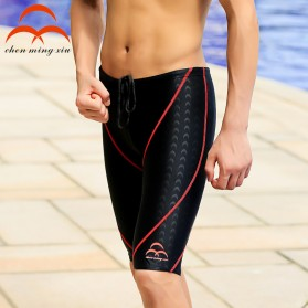 Celana Renang Pria Sharkskin Swimming Trunk Pants Size L - Red/Black