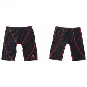 Celana Renang Pria Sharkskin Swimming Trunk Pants Size XL - Red/Black - 3