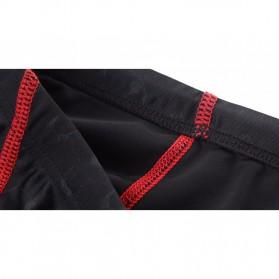 Celana Renang Pria Sharkskin Swimming Trunk Pants Size XL - Red/Black - 4