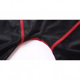 Celana Renang Pria Sharkskin Swimming Trunk Pants Size XL - Red/Black - 6