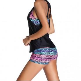Sporlike Bikini Baju Renang Wanita Sport Bathing Swimsuit with Tank Top Size L - YA17001D1 - Red - 6
