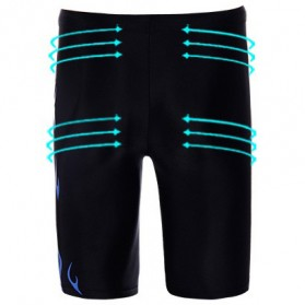 Celana Renang Pria SPA Beach Swimming Trunk Pants Size XL - Black - 3