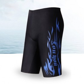 Youyou Celana Renang Pria SPA Beach Swimming Trunk Pants Size L - M9 - Black