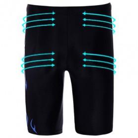 Youyou Celana Renang Pria SPA Beach Swimming Trunk Pants Size L - M9 - Black - 3