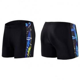 NABEIMEI Celana Renang Pria Swimming Trunk Pants Size XL - Black/Blue - 3