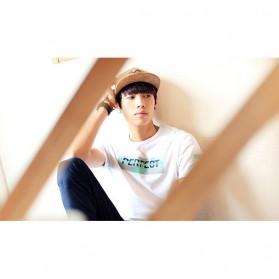 Kaos Katun Pria T-Shirt Perfect O Neck Size M - White - 6