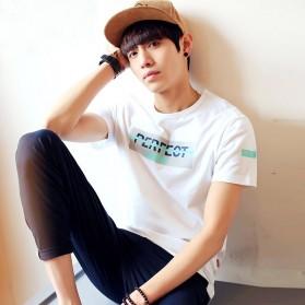 Kaos Katun Pria T-Shirt Perfect O Neck Size XL - White