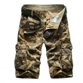 Celana Camouflage Military Pendek Pria Size 30 - Khaki
