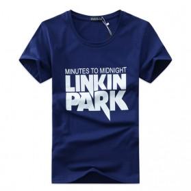 Kaos Katun Pria Linkin Park O Neck Size S - Blue