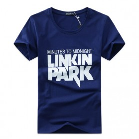 Kaos Katun Pria Linkin Park O Neck Size L - Blue