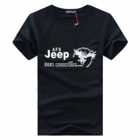 Kaos Katun Pria JEEP O Neck Size S - Black