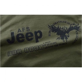 Kaos Katun Pria JEEP O Neck Size L - Army Green - 6
