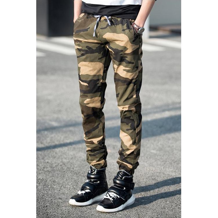 Celana Jogger Pria Batik: Celana Jogger Pria Motif Tentara Size M