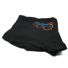 Celana Renang Pria Swimming Trunk Anti Bacterial Underpants Size L - Black - 4