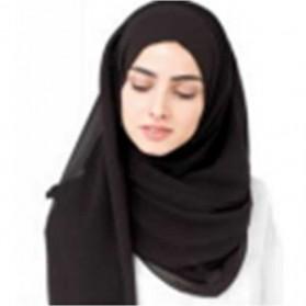 Kerudung Hijab Muslim Chiffon Shawls - Black - 1