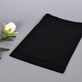 Kerudung Hijab Muslim Chiffon Shawls - Black - 2
