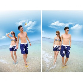 Celana Pantai Santai Pria Size L - Blue - 4
