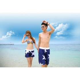 Celana Pantai Santai Pria Size L - Blue - 5