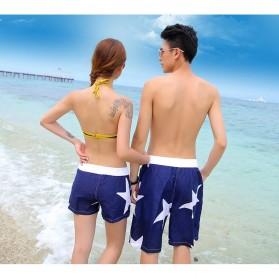 Celana Pantai Santai Pria Size L - Blue - 8