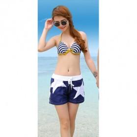 Celana Pantai Santai Wanita Size L - Blue