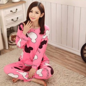 Piyama Wanita Karakter Kartun Size M - Pink