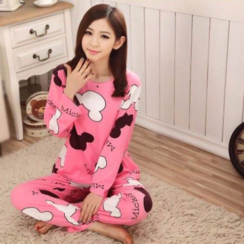 ... Piyama Wanita Karakter Kartun Size M - Pink - 1 ...